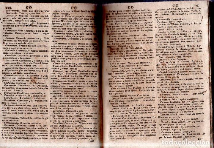 Diccionarios antiguos: THESAURUS HISPANO- LATINUS. VERBIS ET PHRAIBUS. P. BARTHOLOMEO BRAVO. P. PETRO DE SALAS. 1795. - Foto 5 - 180925612
