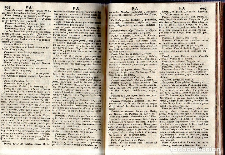 Diccionarios antiguos: THESAURUS HISPANO- LATINUS. VERBIS ET PHRAIBUS. P. BARTHOLOMEO BRAVO. P. PETRO DE SALAS. 1795. - Foto 6 - 180925612