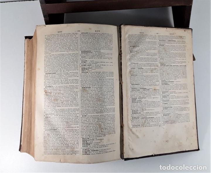 Diccionarios antiguos: DICTIONNAIRE GÉNÉRAL DE BIOGRAPHIE ET DHISTOIRE. 2 TOMOS. VV. AA. LIBR. DELAGRAVE. SIGLO XIX?. - Foto 7 - 180992183
