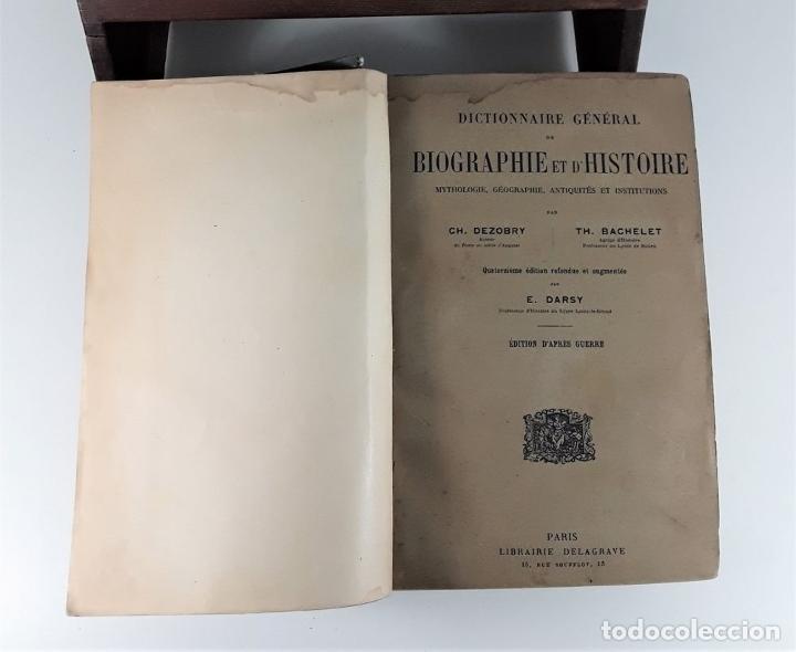 Diccionarios antiguos: DICTIONNAIRE GÉNÉRAL DE BIOGRAPHIE ET DHISTOIRE. 2 TOMOS. VV. AA. LIBR. DELAGRAVE. SIGLO XIX?. - Foto 8 - 180992183