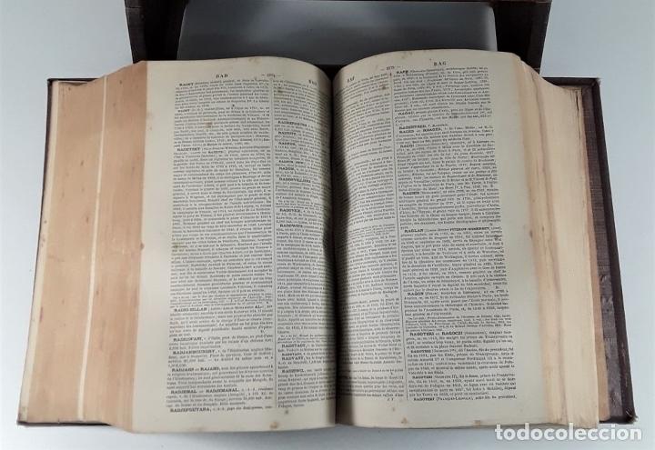 Diccionarios antiguos: DICTIONNAIRE GÉNÉRAL DE BIOGRAPHIE ET DHISTOIRE. 2 TOMOS. VV. AA. LIBR. DELAGRAVE. SIGLO XIX?. - Foto 10 - 180992183