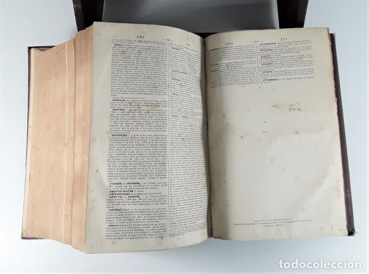 Diccionarios antiguos: DICTIONNAIRE GÉNÉRAL DE BIOGRAPHIE ET DHISTOIRE. 2 TOMOS. VV. AA. LIBR. DELAGRAVE. SIGLO XIX?. - Foto 11 - 180992183