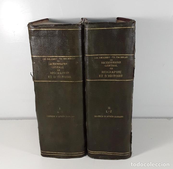 DICTIONNAIRE GÉNÉRAL DE BIOGRAPHIE ET DHISTOIRE. 2 TOMOS. VV. AA. LIBR. DELAGRAVE. SIGLO XIX?. (Libros Antiguos, Raros y Curiosos - Diccionarios)