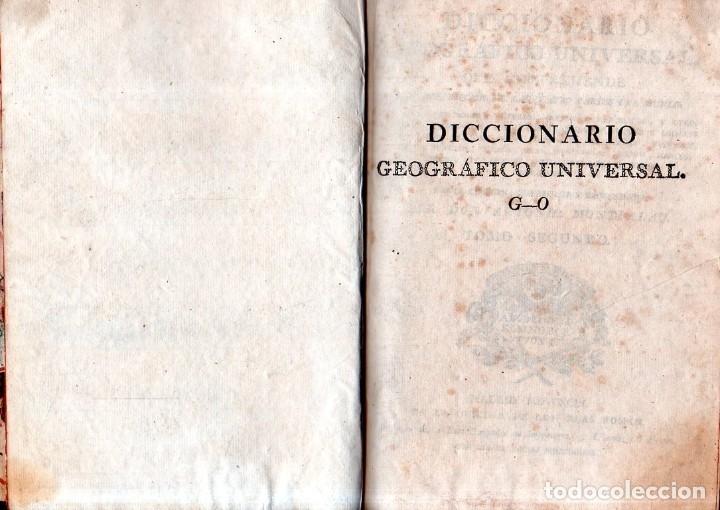 Diccionarios antiguos: DICCIONARIO GEOGRAFICO UNVERSAL.ANTONIO MONTPALAU.VIUDA E HIJOS DE D.PEDRO MARIN. 1794. 3 TOMOS.LEER - Foto 6 - 181006923