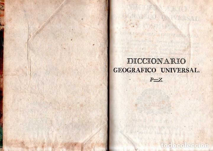 Diccionarios antiguos: DICCIONARIO GEOGRAFICO UNVERSAL.ANTONIO MONTPALAU.VIUDA E HIJOS DE D.PEDRO MARIN. 1794. 3 TOMOS.LEER - Foto 8 - 181006923