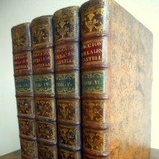 Diccionarios antiguos: DICCIONARIO DE LA LENGUA CASTELLANA (AUTORIDADES) REAL ACADEMIA ESPAÑOLA. TOMOS II, IV, V Y VI 1729-. Lote 181809781