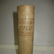 Diccionarios antiguos: VOCABULARIUM IURIS UTRIUSQUE HUIC SINGULAS À LEXICO. A. NEBRISSENSIS COLLECTAS..NEBRIJA, ANTONIO.. Lote 182972253