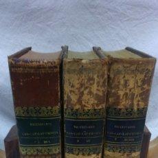 Diccionarios antiguos: DICCIONARIO CASTELLANO-CATALÁN-LATINO-FRANCÉS-ITALIANO.3 VOLUMENES.IMPRENTA A BRUSI.AÑO 1842. Lote 183221983