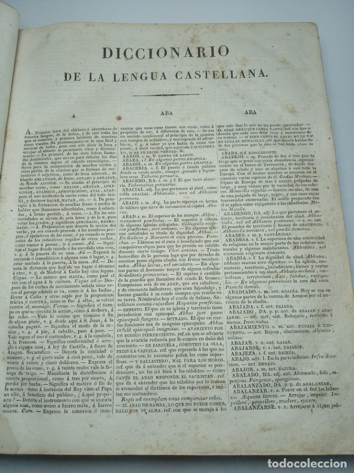Diccionarios antiguos: Diccionario de la academia española. Dirección José René Masson. París. Casa de Massón e hijo. 1826. - Foto 4 - 184630485