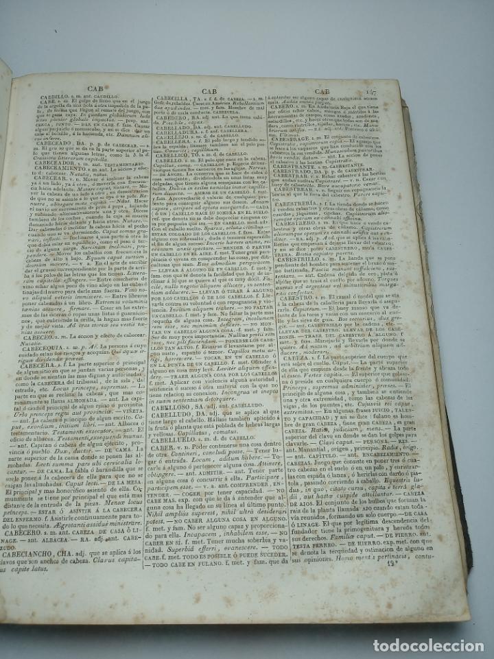 Diccionarios antiguos: Diccionario de la academia española. Dirección José René Masson. París. Casa de Massón e hijo. 1826. - Foto 6 - 184630485