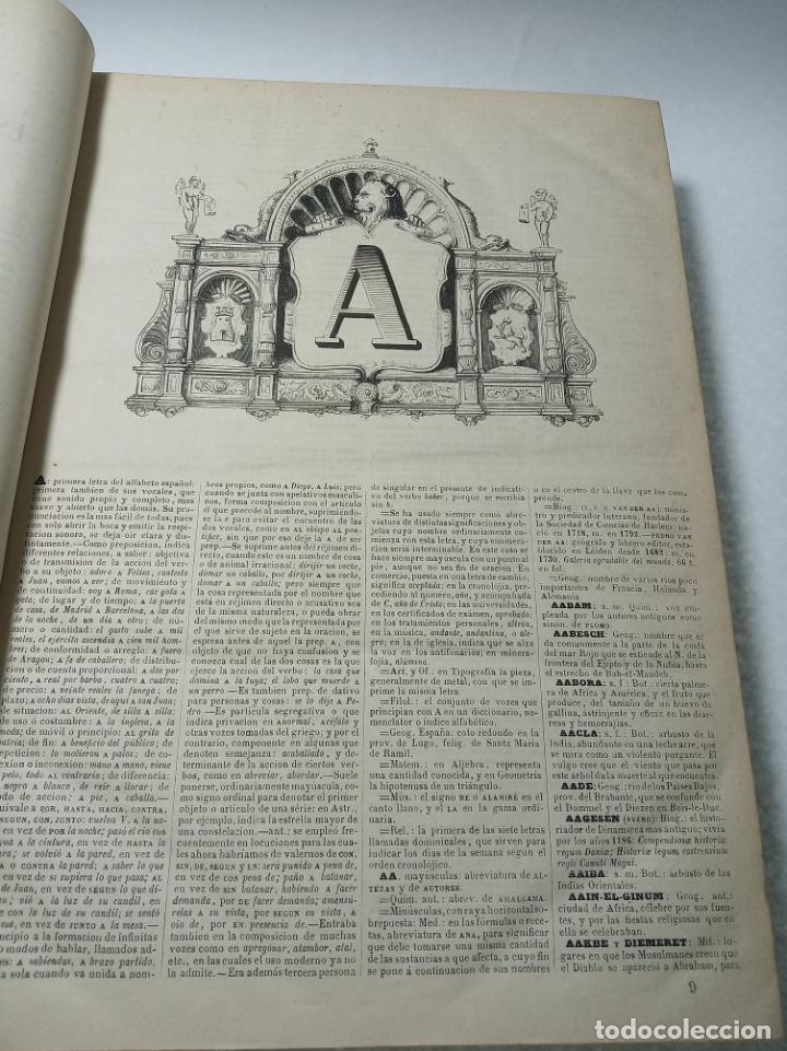 Diccionarios antiguos: Diccionario enciclopédico de la lengua española. 2 tomos. Sociedad de personas especial. Madrid.1875 - Foto 4 - 184631277