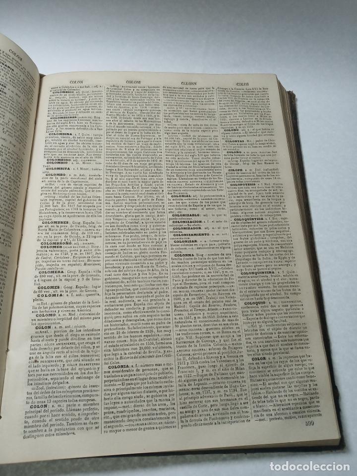 Diccionarios antiguos: Diccionario enciclopédico de la lengua española. 2 tomos. Sociedad de personas especial. Madrid.1875 - Foto 7 - 184631277