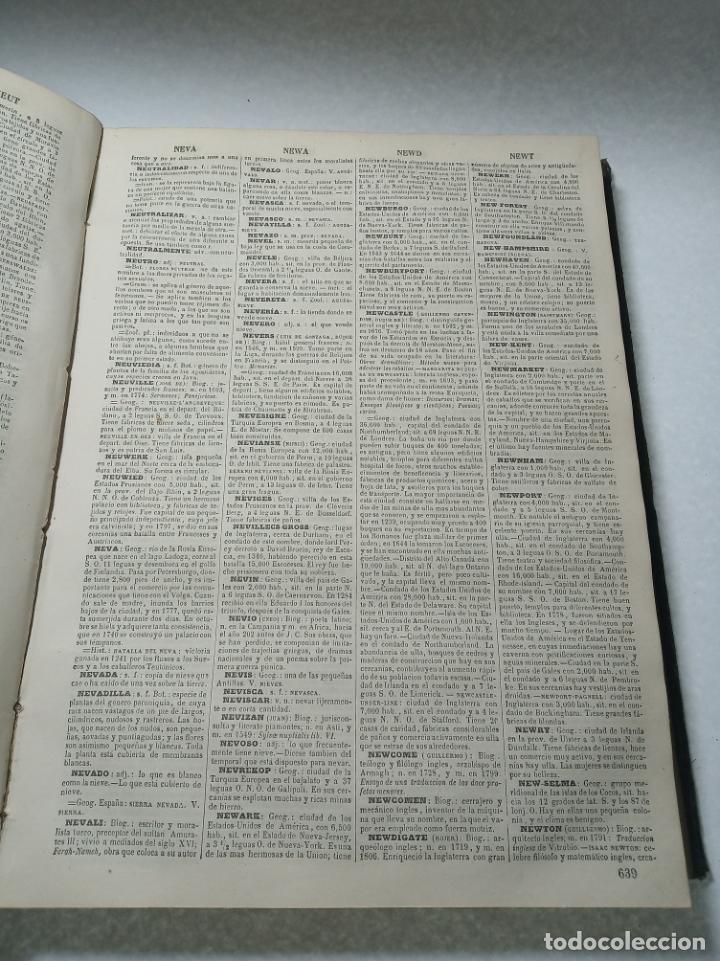 Diccionarios antiguos: Diccionario enciclopédico de la lengua española. 2 tomos. Sociedad de personas especial. Madrid.1875 - Foto 15 - 184631277