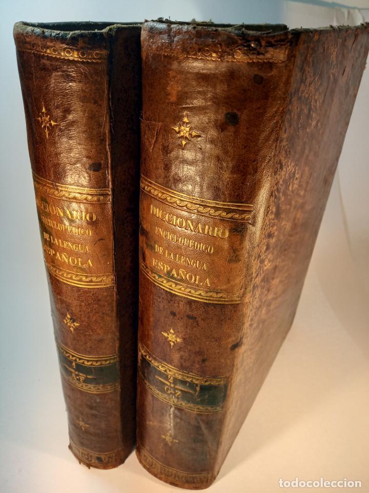 DICCIONARIO ENCICLOPÉDICO DE LA LENGUA ESPAÑOLA. 2 TOMOS. SOCIEDAD DE PERSONAS ESPECIAL. MADRID.1875 (Libros Antiguos, Raros y Curiosos - Diccionarios)
