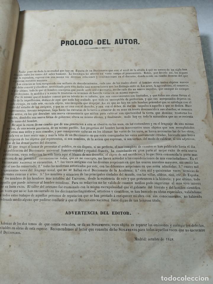 Diccionarios antiguos: Diccionario nacional o gran diccionario clásico de la lengua Española. Don Ramón Joaquín Dominguez. - Foto 4 - 184632747