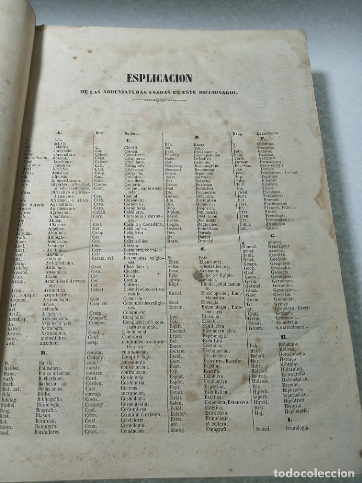 Diccionarios antiguos: Diccionario nacional o gran diccionario clásico de la lengua Española. Don Ramón Joaquín Dominguez. - Foto 5 - 184632747