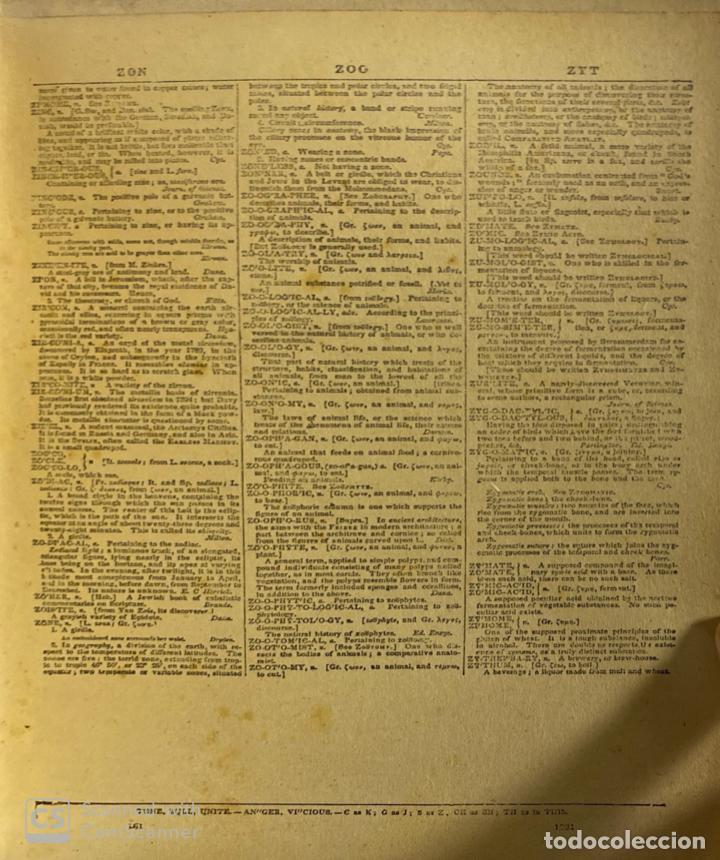Diccionarios antiguos: WEBSTER´S. UNABRIDGED DICTIONARY. AN AMERICAN DICTIONARY OF THE ENGLISH LANGUAGE. NOAH WEBSTER, 1892 - Foto 5 - 185785466