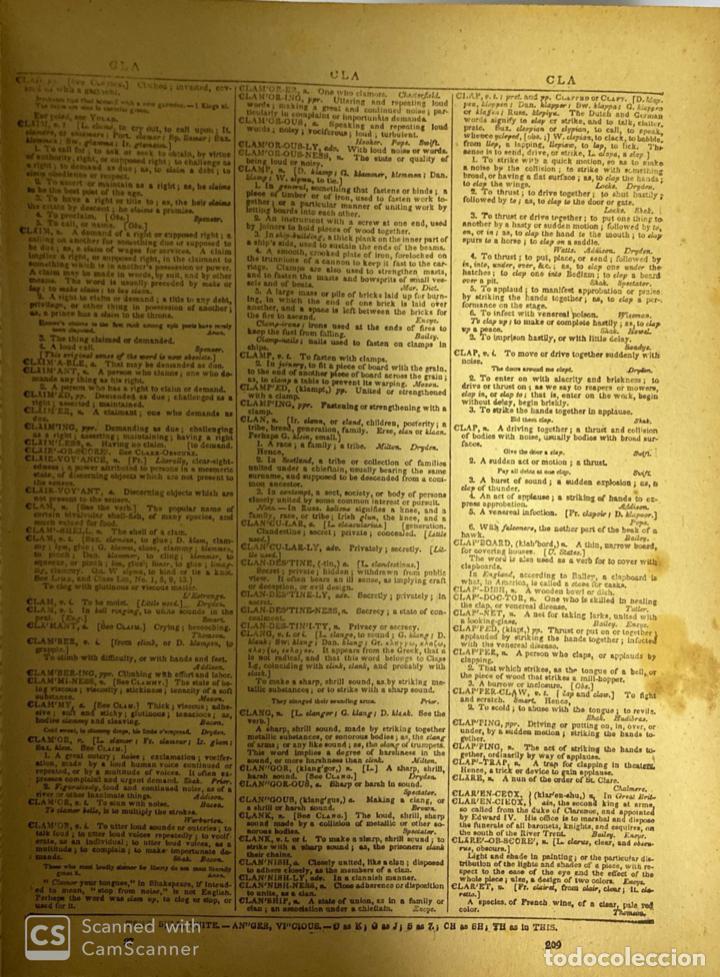 Diccionarios antiguos: WEBSTER´S. UNABRIDGED DICTIONARY. AN AMERICAN DICTIONARY OF THE ENGLISH LANGUAGE. NOAH WEBSTER, 1892 - Foto 6 - 185785466