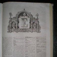 Diccionarios antiguos: DICCIONARIO ENCICLOPÉDICO DE LA LENGUA ESPAÑOLA TOMO I (A-F) 1853. Lote 186219326