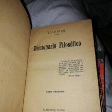 Diccionarios antiguos: DICCIONARIO FILOSÓFICO VOLTAIRE TOMO PRIMERO.. Lote 186244025
