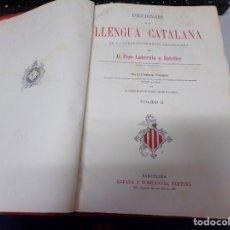 Diccionarios antiguos: DICCIONARI DE LA LLENGUA CATALANA LABERNIA VOLUMEN 2. Lote 186256811