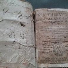 Diccionarios antiguos: LIBRO EN PERGAMINO DYCTONARIUM CATALANO-LATIN 1670 PETRO TORRA.. Lote 186394608