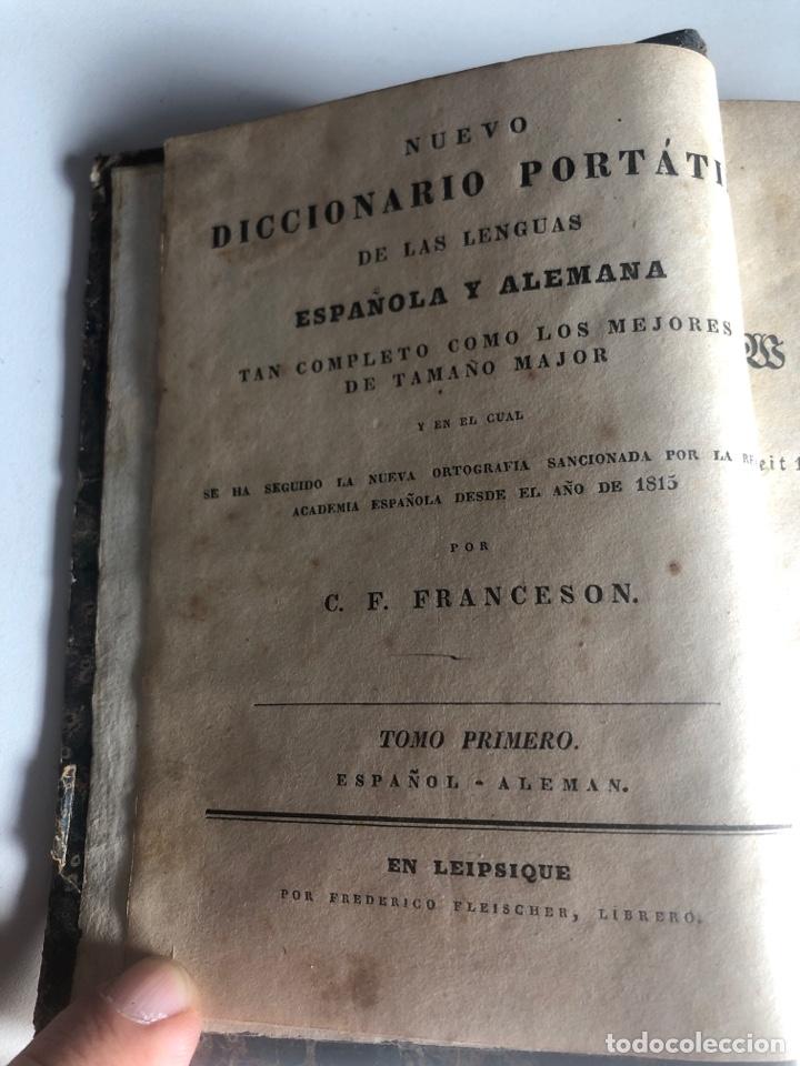 Diccionarios antiguos: Nuevo diccionario portátil de las lenguas española y alemana - Foto 3 - 187324293