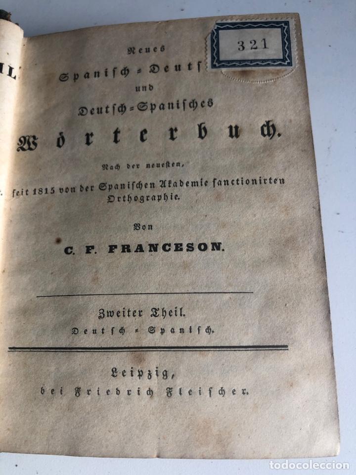 Diccionarios antiguos: Nuevo diccionario portátil de las lenguas española y alemana - Foto 4 - 187324293