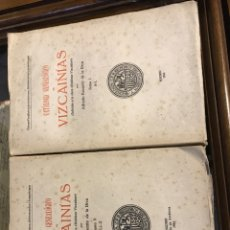 Diccionarios antiguos: CATÁLOGO GENEALÓGICO DE VIZCAINIAS GENEALOGÍA PAÍS VASCO VIZCAYA. Lote 188044186