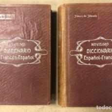Diccionarios antiguos: NOVISIMO DICCIONARIO FRANCÉS - ESPAÑOL Y ESPAÑOL- FRANCÉS. 2 TOMOS. NUÑEZ DE TABOADA. 1909.. Lote 168208244