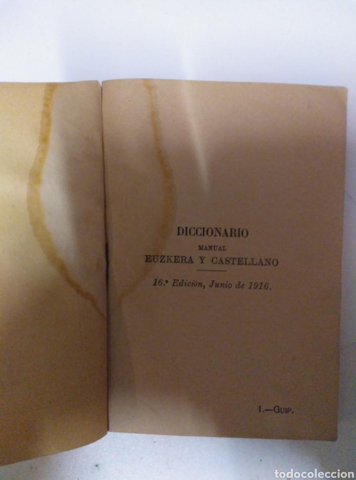 Diccionarios antiguos: Diccionario manual Euskera Castellano - Foto 2 - 189939721