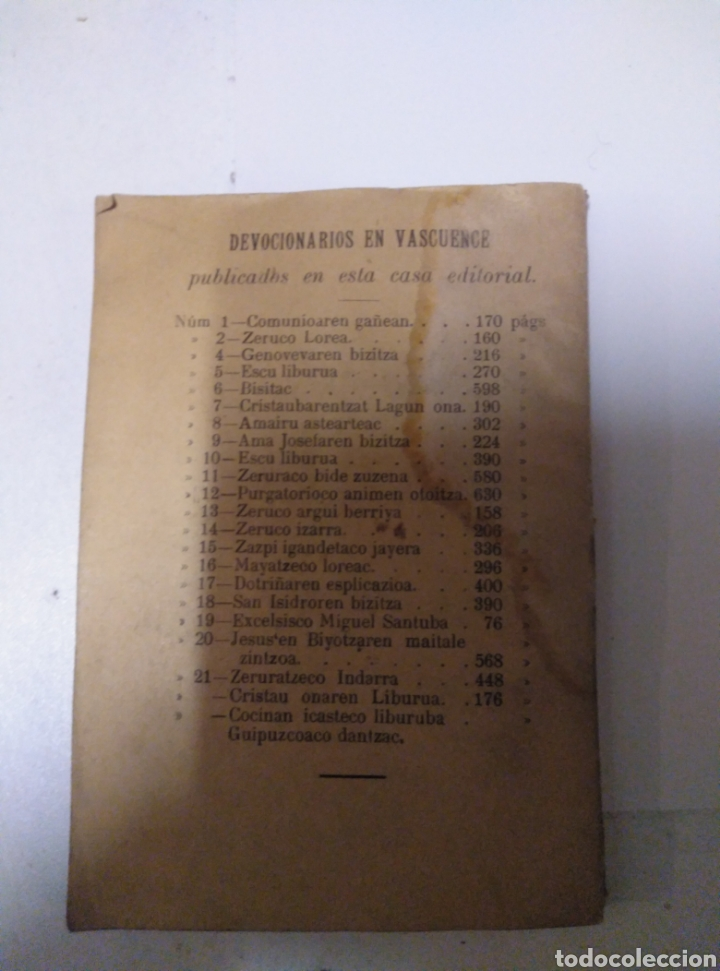 Diccionarios antiguos: Diccionario manual Euskera Castellano - Foto 4 - 189939721