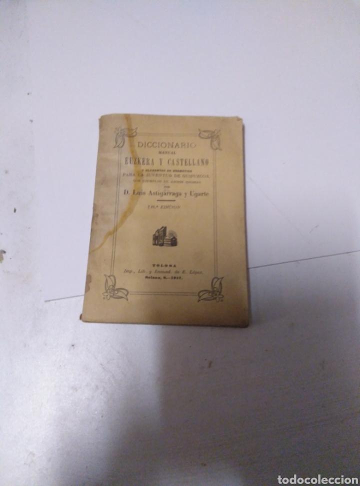 DICCIONARIO MANUAL EUSKERA CASTELLANO (Libros Antiguos, Raros y Curiosos - Diccionarios)