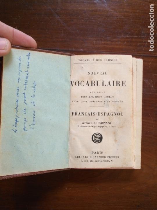 RELIGION - DICCIONARIO FRANCES ESPAÑOL , VOCABULAIRE FRANCAIS ESPAGNOL ARTURO DE ROZZOL - PARIS (Libros Antiguos, Raros y Curiosos - Diccionarios)