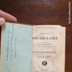 Diccionarios antiguos: RELIGION - DICCIONARIO FRANCES ESPAÑOL , VOCABULAIRE FRANCAIS ESPAGNOL ARTURO DE ROZZOL - PARIS . Lote 190348067
