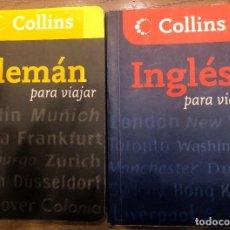 Diccionarios antiguos: DOS DICCIONARIOS PARA VIAJAR COLLINS. ALEMAN E INGLES.. Lote 190481617