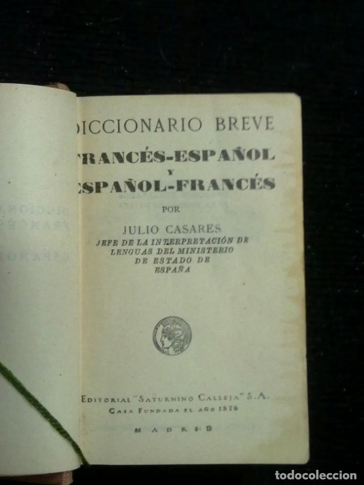 Diccionarios antiguos: DICCIONARIOS BREVES.CALLEJA.1921. - Foto 3 - 190485140