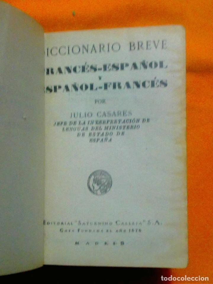 Diccionarios antiguos: DICCIONARIOS BREVES.CALLEJA.1921. - Foto 13 - 190485140