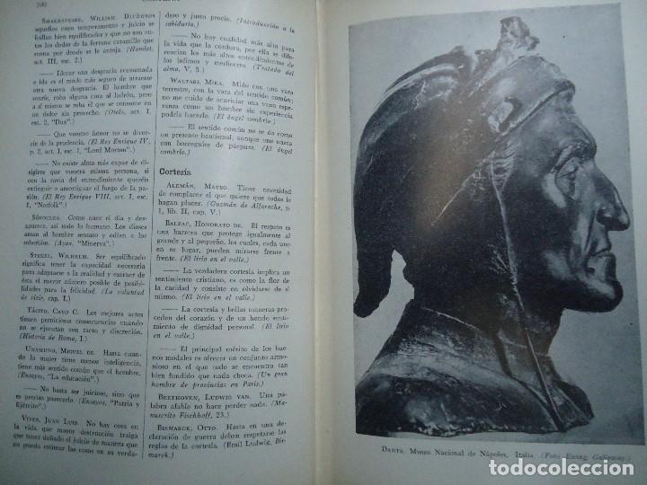 Diccionarios antiguos: Diccionario antológico del pensamiento universal 1958 Antonio Manero. Impreso en México, 1958. UTE - Foto 4 - 191710537