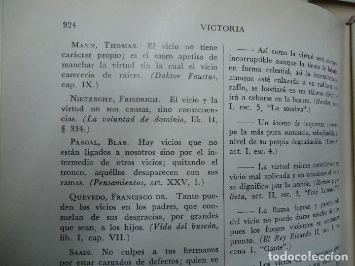 Diccionarios antiguos: Diccionario antológico del pensamiento universal 1958 Antonio Manero. Impreso en México, 1958. UTE - Foto 6 - 191710537