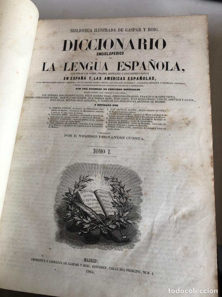 Diccionarios antiguos: Diccionario enciclopedico de la lengua española - Foto 3 - 192134571