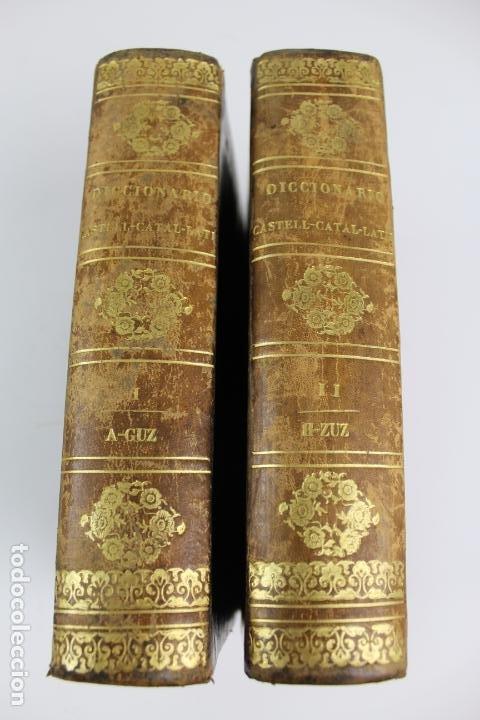 L-4058. DICCIONARIO LENGUA CASTELLANA CON CORRESPONDENCIAS CATALANA Y LATINA,P.CABERNIA. 2 T.1844. (Libros Antiguos, Raros y Curiosos - Diccionarios)