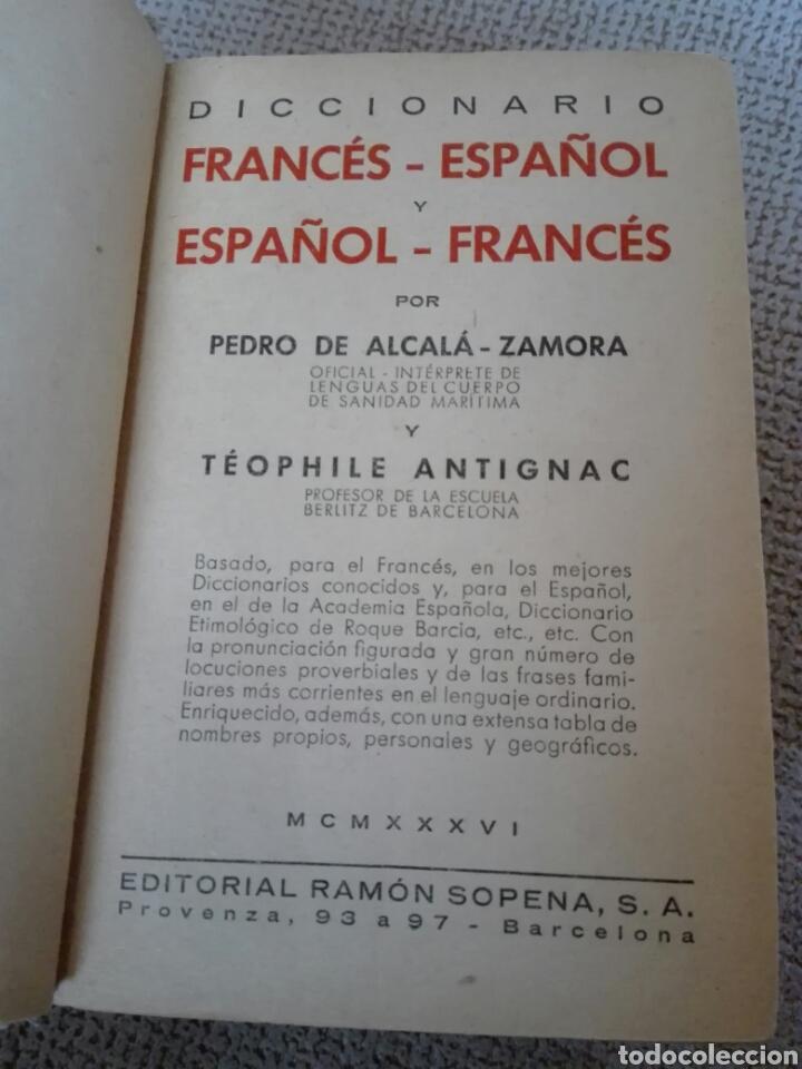 Diccionarios antiguos: Diccionario español francés. ALCALÁ - ZAMORA, Pedro de y ANTIGNAC, Theophile. 1936 - Foto 3 - 193394500