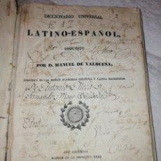 Diccionarios antiguos: DICCIONARIO LATÍNO ESPAÑOL VALBUENA AÑO 1833. IMPRENTA REAL.. Lote 193423241