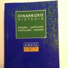 Diccionarios antiguos: DICCIONARIO OINARRIZO HIZTEGIA CASTELLANO - EUSKARA EUSKARA - GAZTELANIA. Lote 193887443