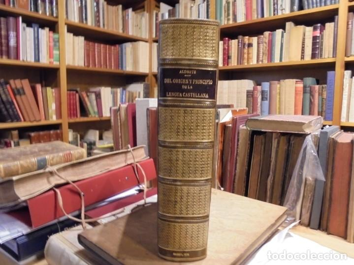 Diccionarios antiguos: ALDRETE: ORIGEN DE LA LENGUA CASTELLANA. COVARRUBIAS: TESORO DE LA LENGUA CASTELLANA. 1674 - Foto 4 - 194000830