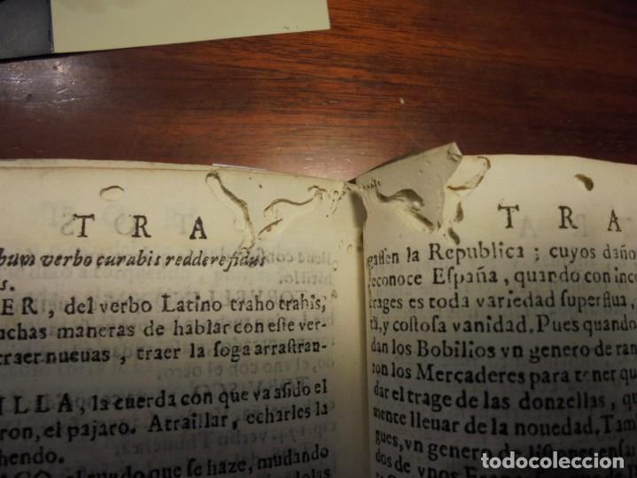 Diccionarios antiguos: ALDRETE: ORIGEN DE LA LENGUA CASTELLANA. COVARRUBIAS: TESORO DE LA LENGUA CASTELLANA. 1674 - Foto 10 - 194000830