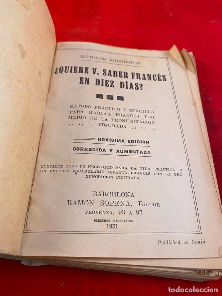 Diccionarios antiguos: Quiere usted aprender francés en diez días? - Foto 2 - 194014238