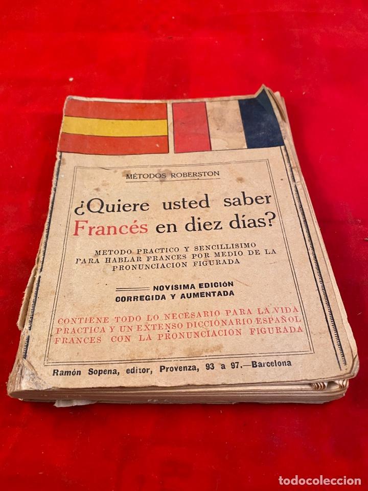 QUIERE USTED APRENDER FRANCÉS EN DIEZ DÍAS? (Libros Antiguos, Raros y Curiosos - Diccionarios)