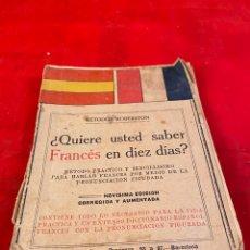 Livros antigos: QUIERE USTED APRENDER FRANCÉS EN DIEZ DÍAS?. Lote 194014238